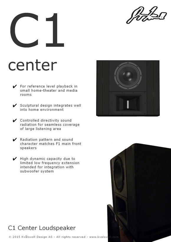 Kvalsvoll Design AS Center loudspeaker